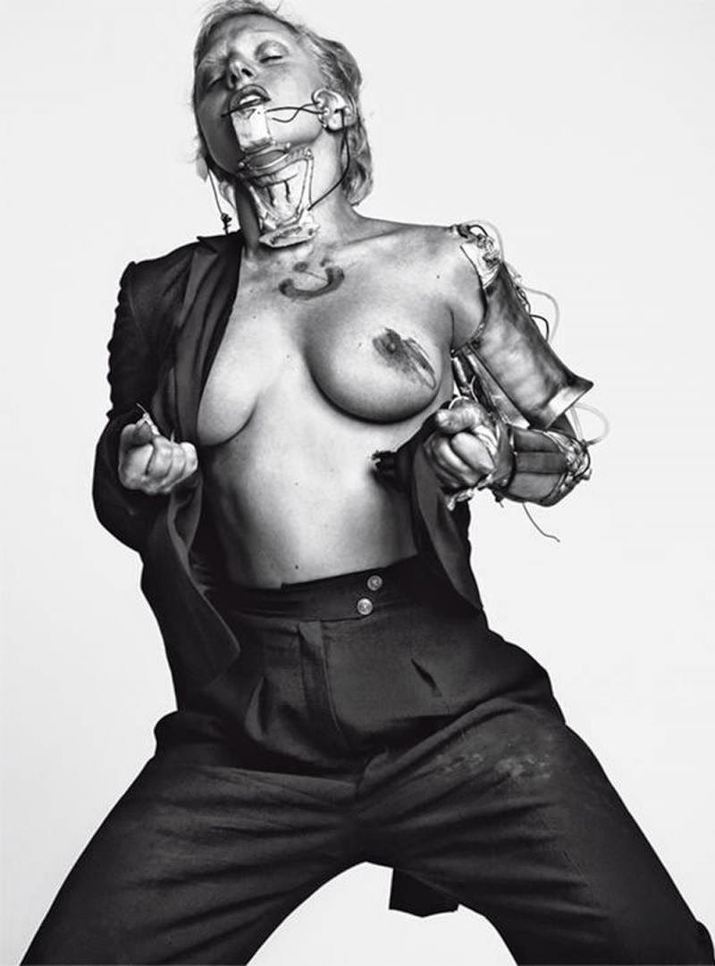 lady gaga topless style steampunk