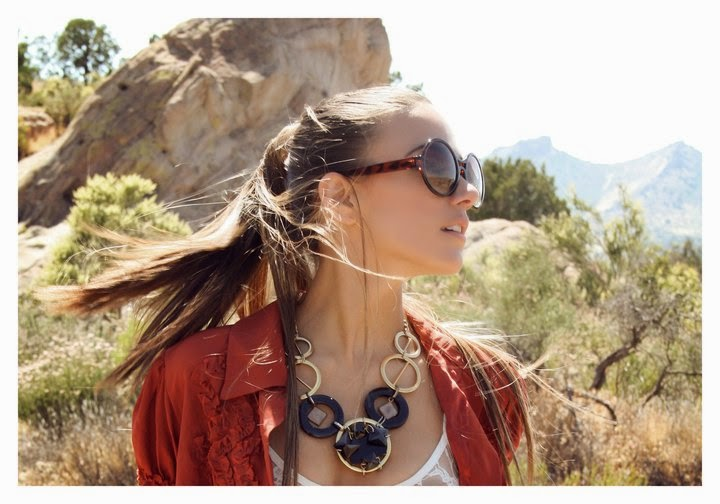 Jana Kramer wearing a Jenny Dayco necklace