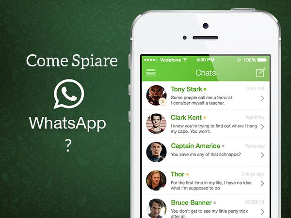 Come spiare le conversazioni di Whatsapp