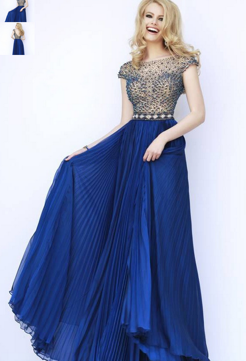 Modest Floor Length Prom Dress