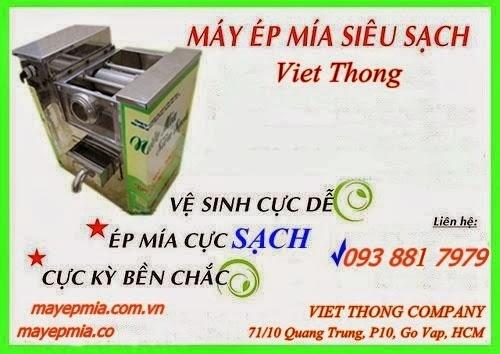 Xe máy ép mía siêu sạch Việt Thống