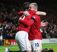 Wayne Rooney and Robin van Persie, Manchester United forwards