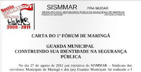 Carta do 1º Fórum da Guarda Municipal