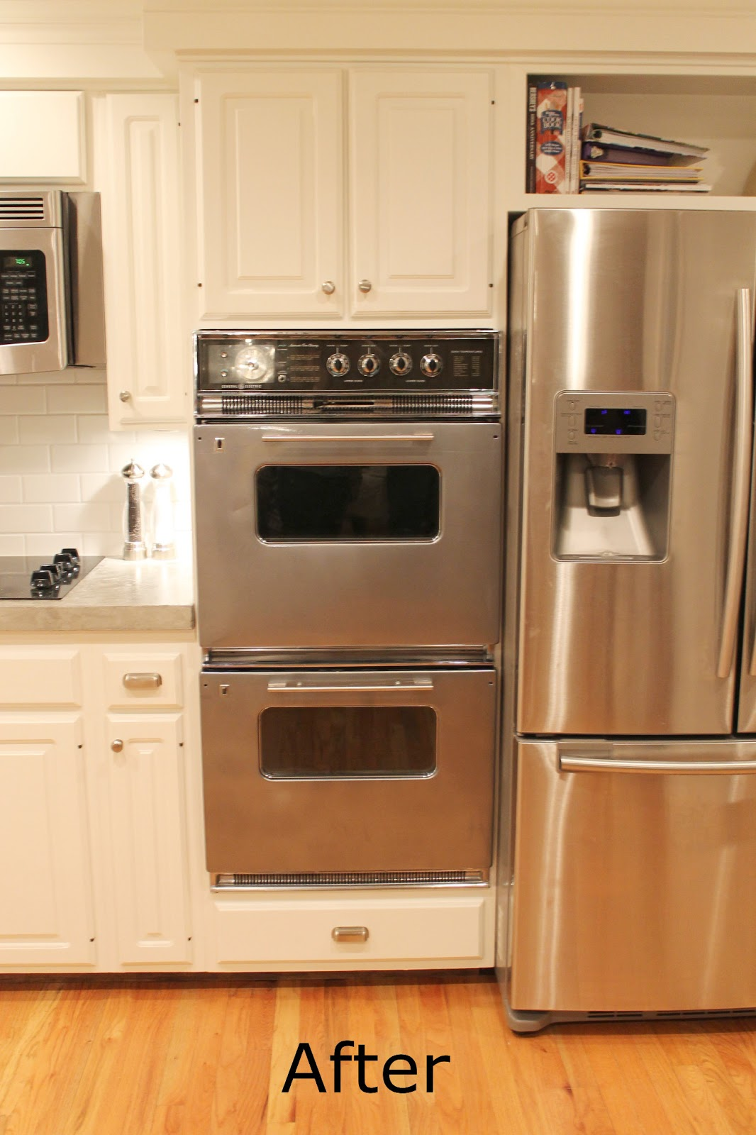 Kitchen With Two Ovens ~ Daly designs before after s double ovens spraypainted