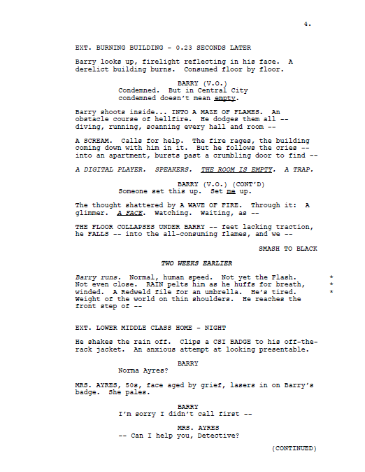 The game movie script