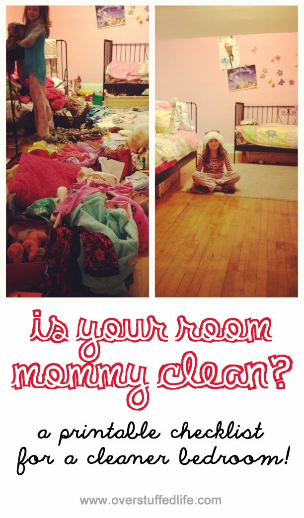 is your room mommy clean printable checklist overstuffed