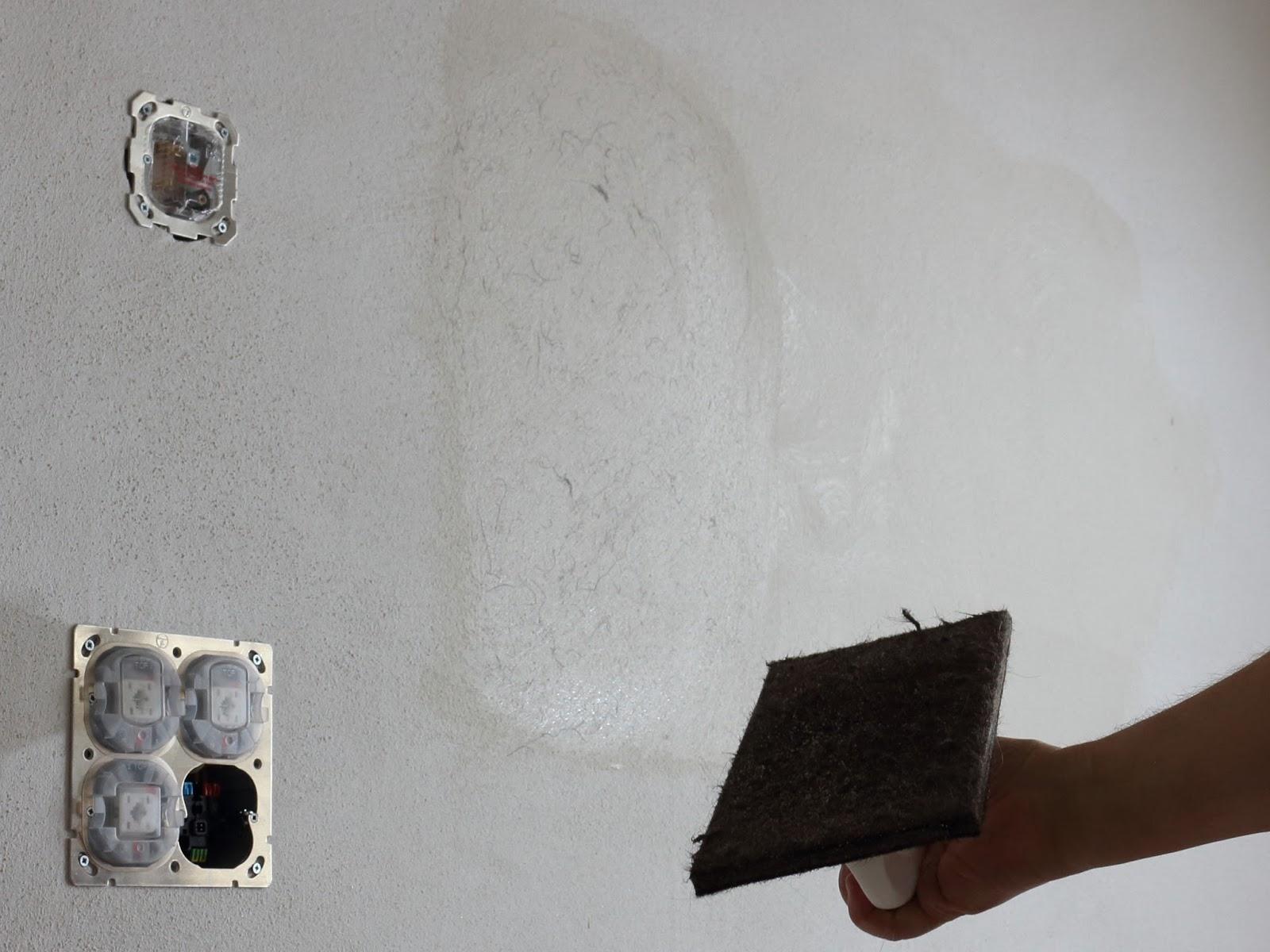 karolina unser schwedenhaus lehmputz verfeinern. Black Bedroom Furniture Sets. Home Design Ideas