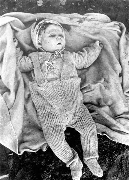 Where can I find information on photographs taken by the Russians of the World War Two Holocaust?