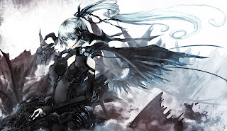 Black Suit Original Cute Wings Girl Anime HD Wallpaper Desktop PC Background 1805