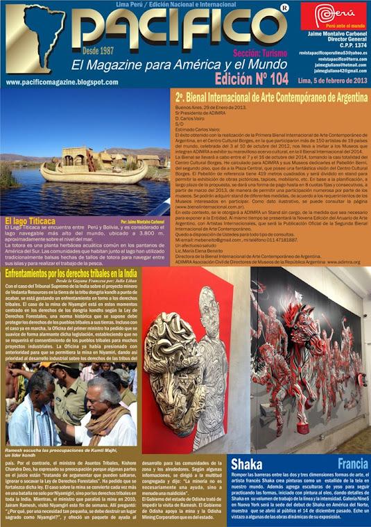 Revista Pacífico Nº 104 Turismo