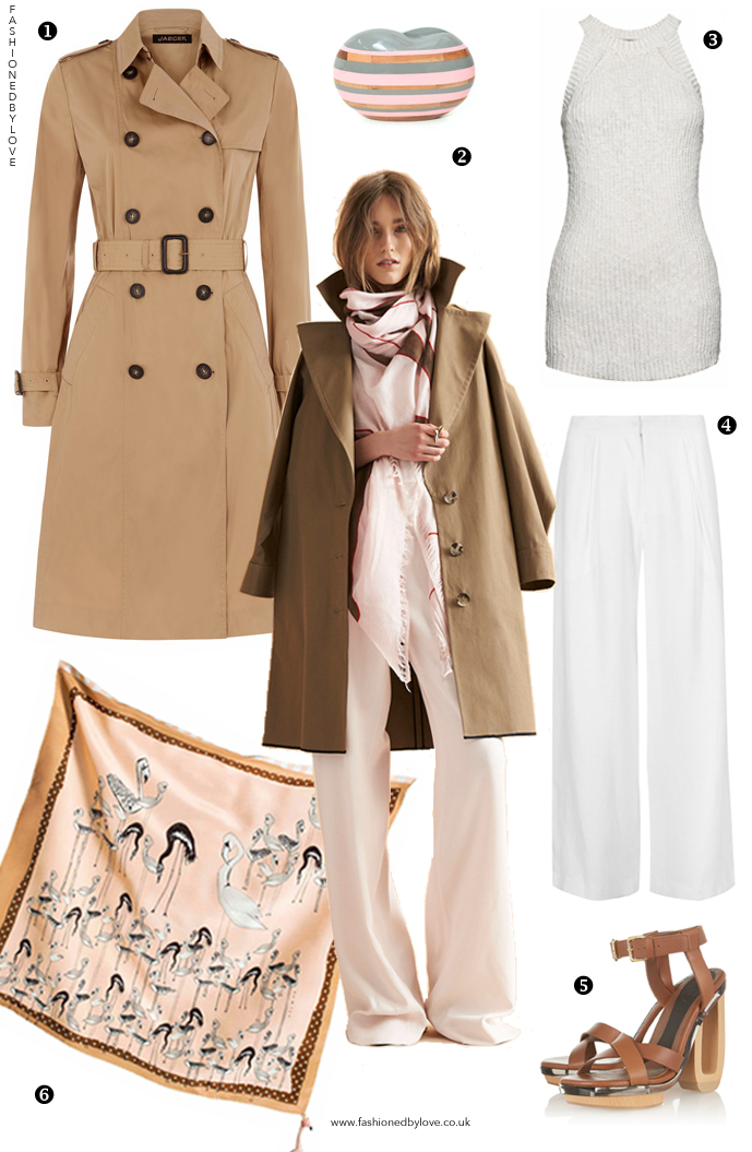 How to style a trench coat? How to wear white trousers? Outfit idea and designer look for less inspired by Maiyet Resort 2015 collection / via fashioned by love british fashion blog