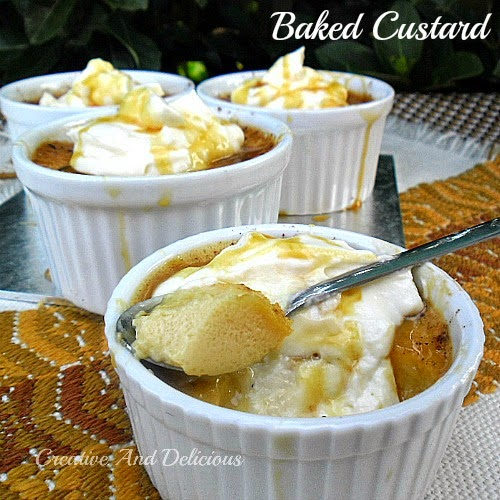 Baked Custard ~ one of the most popular desserts around!  #BakedCustard #Custard #Desserts