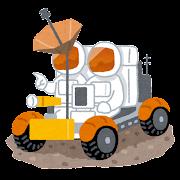 月面バギーのイラスト
