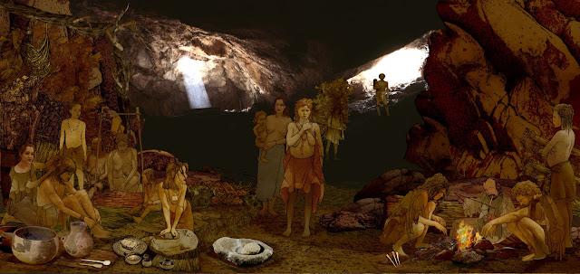 Cova de L`or, prehistoria, recreacion , contextualizacion objetos ypresencia humana