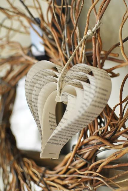 decoracao banheiro diy:Book Paper Hearts