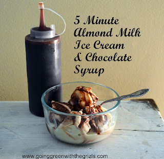 5 minute homemade almond milk ice cream