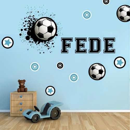 Vinilos futboleros para cuartos de varones y otros usos - Nombres para habitaciones infantiles ...