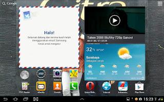 """Galaxy Tab 2 10"""" Jelly Bean Home"""