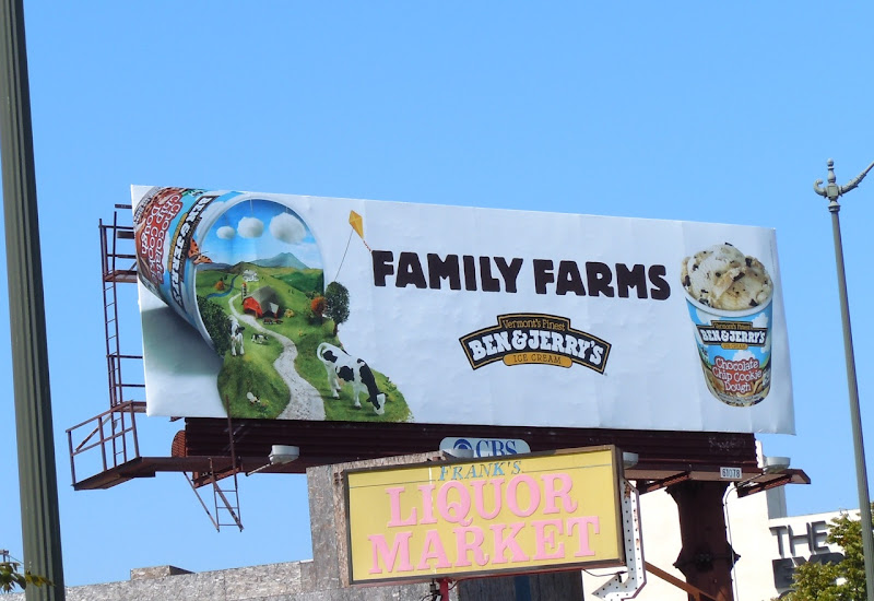 Ben and Jerry's Cookie dough billboard