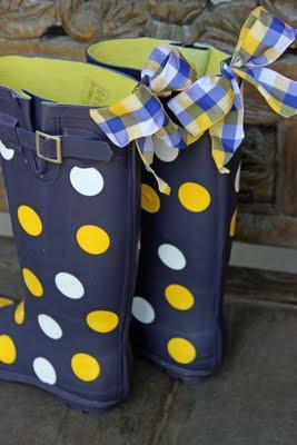 Rain Boots Polka Dots2
