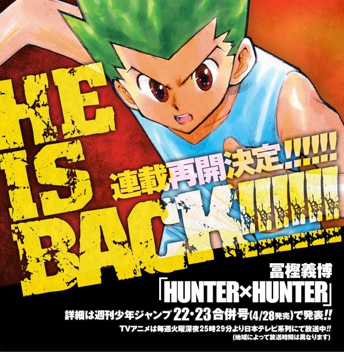 Shueisha Umumkan Manga Hunter x Hunter Akan Berlanjut Juni 2014