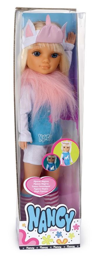 JUGUETES - NANCY   Muñeca Nancy Pijamas Mágicos : Unicornio  Producto Oficial | Famosa 700011267 | Edad: +3 años
