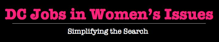 DC Jobs in Women's Issues