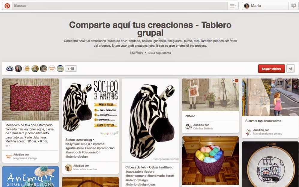 DMC Tablero grupal en Pinterest