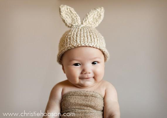 Knit Baby Bunny Hat Pattern : Baby Regal: Gorros de Conejitos de Pascua para Bebes ?Sabes hacerlos?