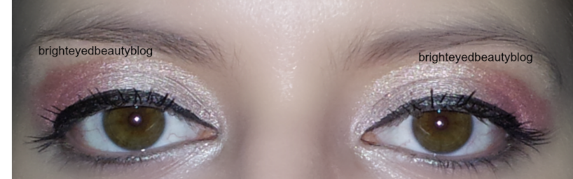 Pretty in Pink eye look series, look 1