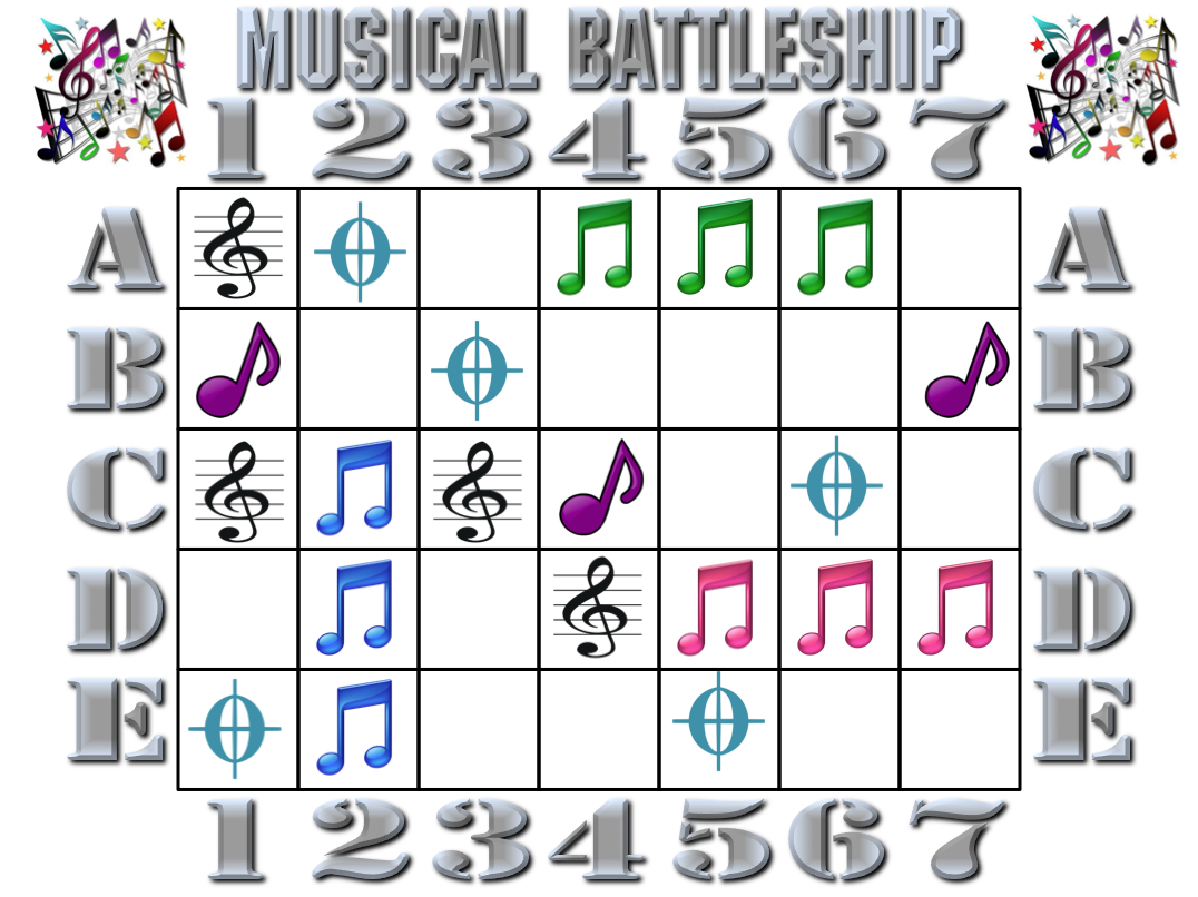 In the Leafy Treetops the Birds Sing Good Morning MUSICAL – Sample Battleship Game