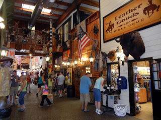 Inside Wall Drug in South Dakota