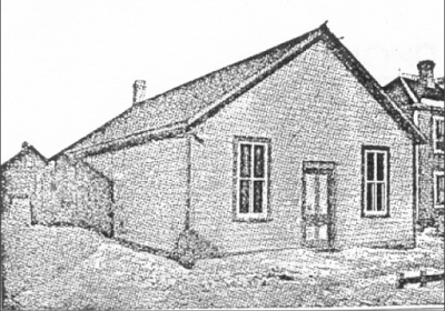The first church building constructed by the mission, dedicated in 1886, was on the corner of Main Street and Limit Avenue. Image courtesy of the City of Winnipeg Historical Report.