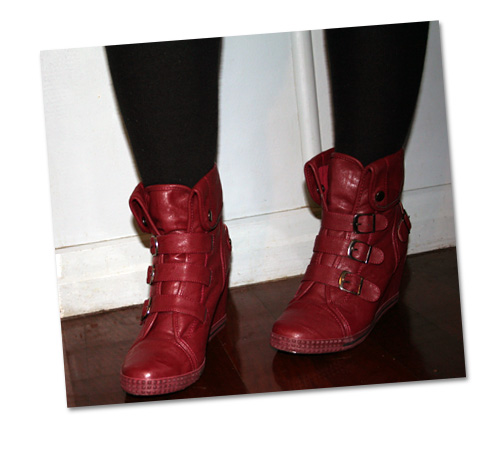 Ox Blood Wedge Boots