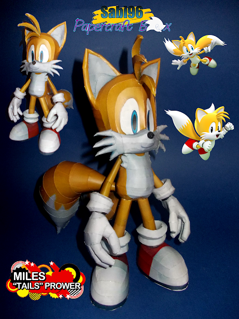 Sonic Adventure Papercraft Tails