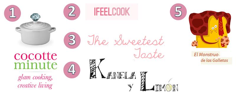 top 10 blogs cocina recetas