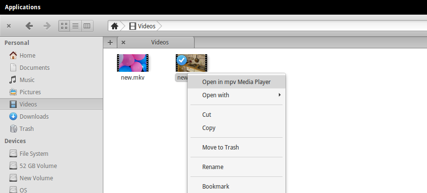 mpv media player linux