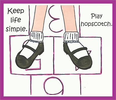 Growing play keep life simple play hopscotch for Minimalist living what to keep