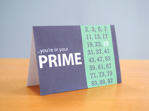 prine number birthday card