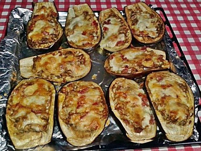 Cocina con mari berenjenas rellenas for Cocina berenjenas rellenas