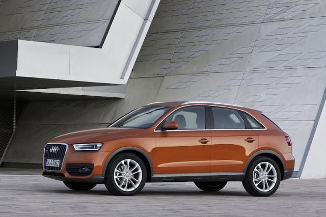 2012 Audi Q3 SUV Orange Wallpaper