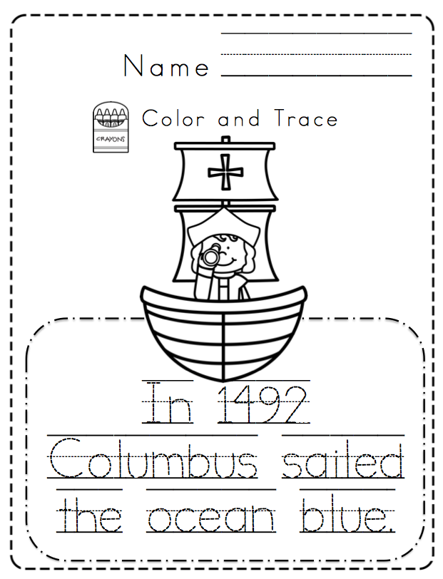 Simplicity image with christopher columbus printable activities