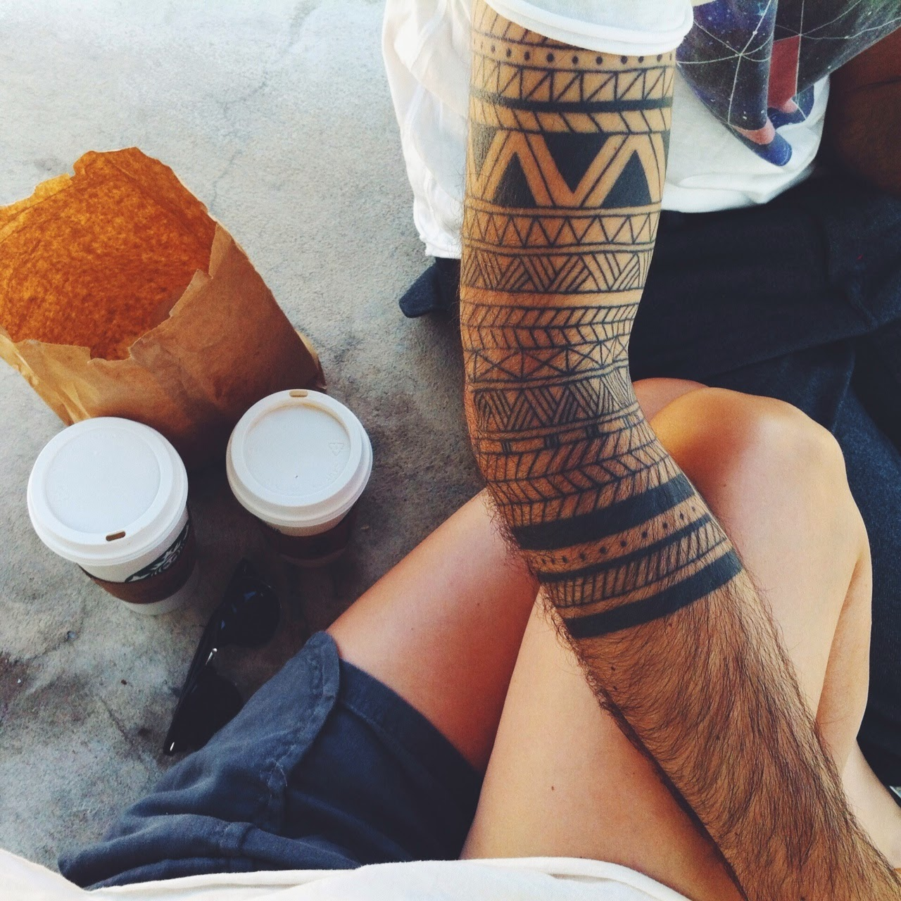 instagram tattoo, man sleeve tattoo, instagram blogging tips, star backs coffee cups for couple