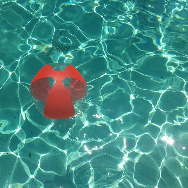beach ball in the pool