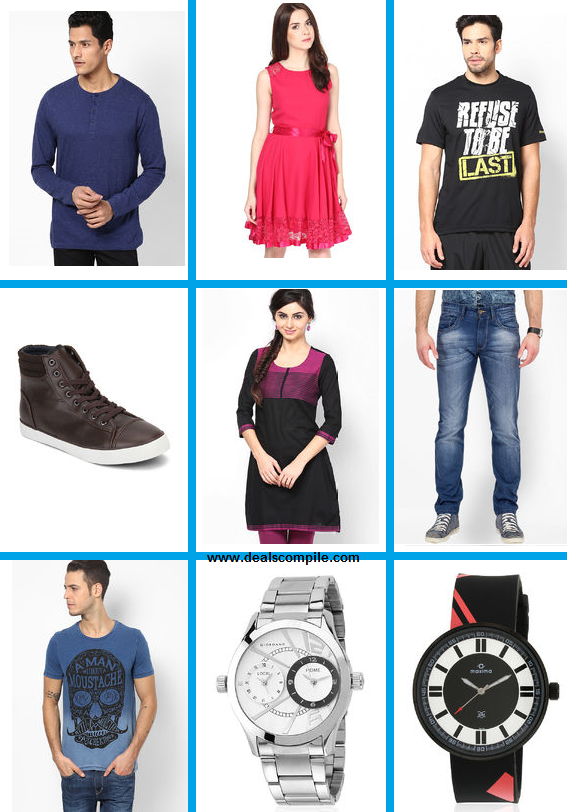 Jabong Tuesday Night Rush – Recommended T-shirts, Shirts, Watches at Minimum 50% Off
