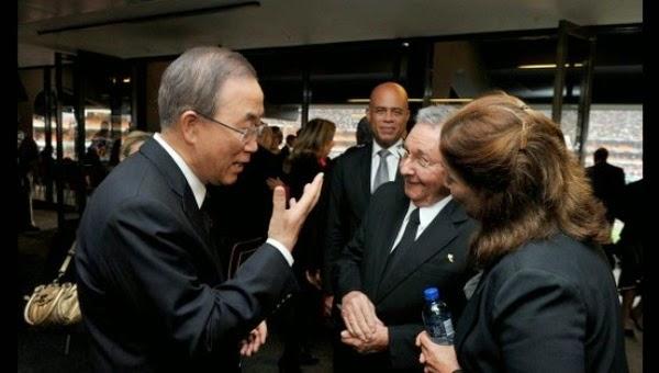 Raúl Castro y Ban Ki-Moon trataron temas de agenda global
