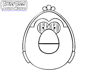 free printable angry birds Star wars coloring pages - Path