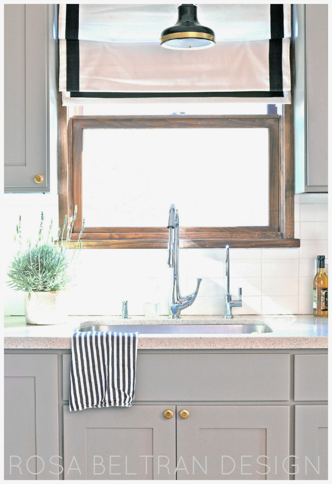 Rosa Beltran Design DIY PAINTED KITCHEN CABINETS