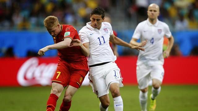 بلجيكا تهزم امريكا بصعوبة وتتأهل لربع النهائي