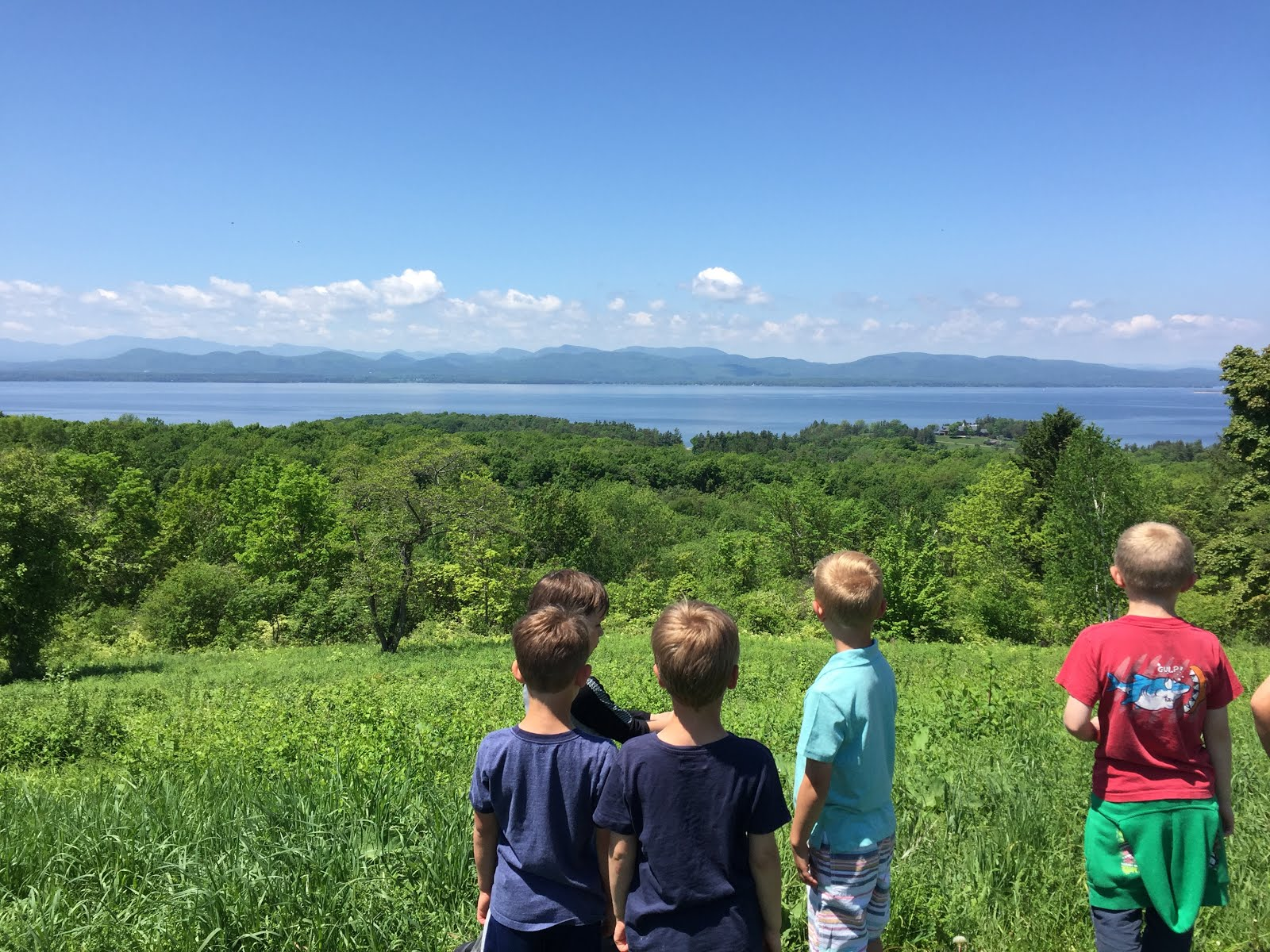 Taking in Lake Champlain